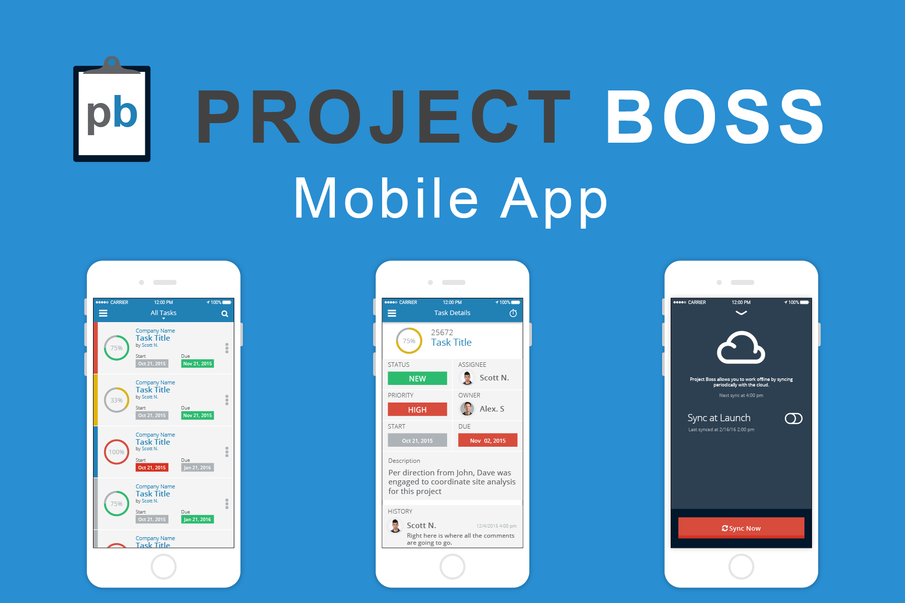 Project Boss Mobile App